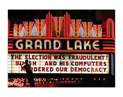 THE ELECTION WAS FRAUDULENT! BUSH AND HIS COMPUTERS MURDERED OUR DEMOCRACY