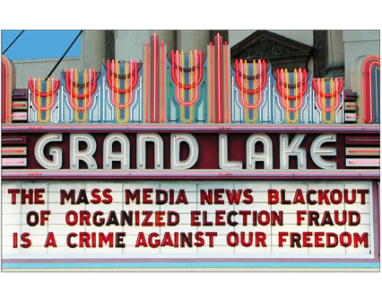 THE MASS MEDIA NEWS BLACKOUT OF ORGANIZED ELECTION FRAUD IS A CRIME AGAINST OUR FREEDOM