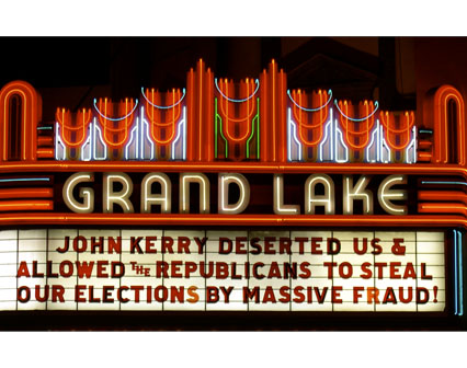 JOHN KERRY DESERTED US & ALLOWED THE REPUBLICANS TO STEAL OUR ELECTIONS BY MASSIVE FRAUD!